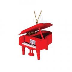 MUSIC TREASURES CO. GRAND Piano Ornament - Red