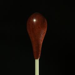 CUSTOM BATONS FIBERGLASS Shaft Baton With Bloodwood Pear Handle 13.5-inch