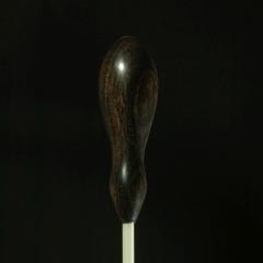 CUSTOM BATONS FIBERGLASS Shaft Baton With African Blackwood Maestro Handle 15-inch
