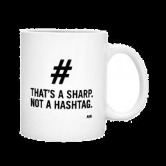 AIM GIFTS THIS Is A Sharp Not A Hashtag Mug