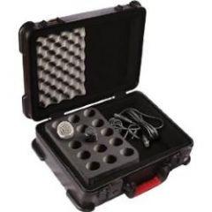 GATOR CASES GM-15-TSA Ata Molded Microphone Case (15 Handhelds)