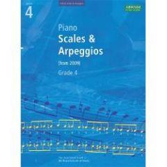 ABRSM PUBLISHING ABRSM Piano Scales Arpeggios & Broken Chords 2009 Edition Grade 4