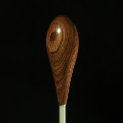 CUSTOM BATONS GRAPHITE Shaft Baton With Rosewood Teardrop Handle 14-inch