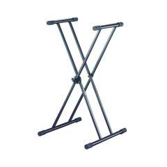 QUIK LOK T20BK Double Braced Single Tier Keyboard X-stand