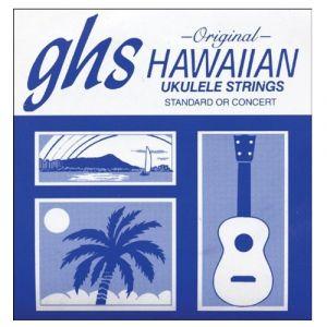 GHS H-10 Hawaiian Standard/concert Ukulele 4-string Set, D Tuning