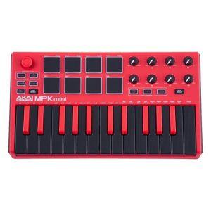 AKAI MPKMINI Mk2 Usb Mini Keyboard Controller In Red