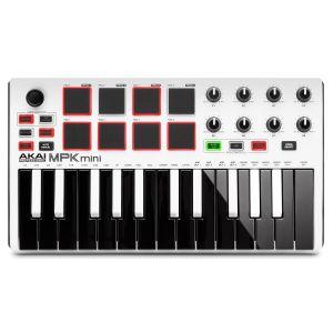 AKAI MPKMINI Mk2 Usb Mini Keyboard Controller In White