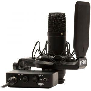 RODE NT1/AI1 Kit Nt1 Condenser Microphone + Ai1 Audio Interface Kit